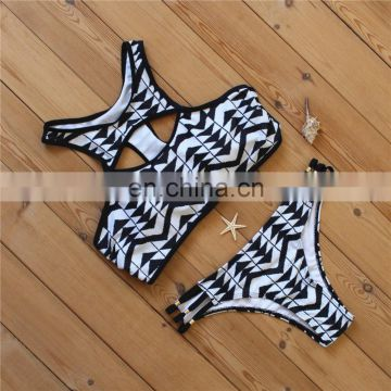 Sexy Mature Women's Swimwear Beachwear Bikini Set Push-Up Padded Swimsuit