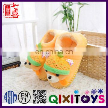 New design comfortable children shoes wholesale customize yellow slippers factory in china
