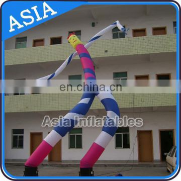 26' inflatable double legs wavy men with logo for advertising