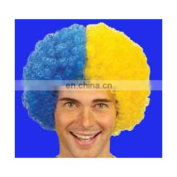 Wholesale customer synthetic football wig for sport game