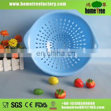 FDA round clear plastic basket for vegetable