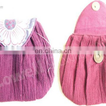 COTTON COIN BAG/COIN PURSE