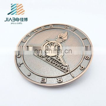Low price custom cheap token antique challenge metal coin