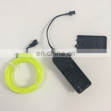 Car EL Wire with belt sound active flashing Kit Set