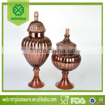 Mintao Custom high quality round glass candy jar with glass lid