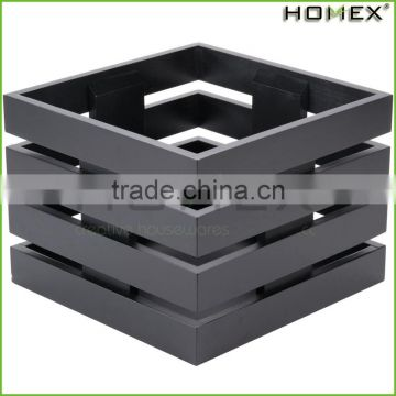 Bamboo Square Crate Display Rack in Black Homex BSCI/Factory