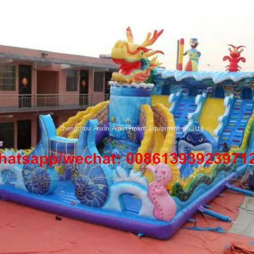 Factory Price 0.55MM PVC Outdoor Inflatable Play Equipments,Giant Children Inflatable Jumping Bouncer For Sale