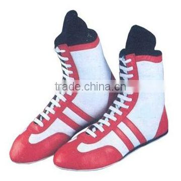 Boxing Shoes / Genuine Leather Boxing Boots / High Top Boxing Shoes