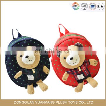Hot Sale Cheap Baby Plush Animal Toy School Backpack for Kids