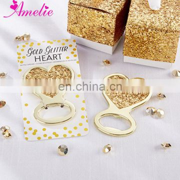 Golden Love Heart Beer Opener Bottle Openers Kitchen Gadgets Dining Bar Beer Opener Wedding Gift Guests Souvenirs Event Favors