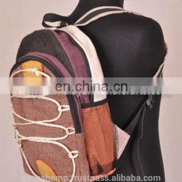 Elegant with Cage Lash Canvas Hemp Backpack HBB 0007