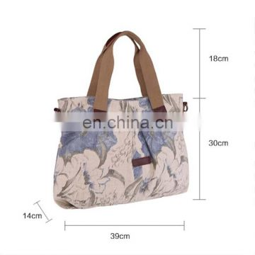 Fashionable canvas handle bag with excellent printing