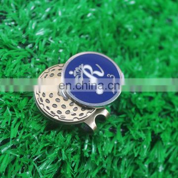 Reasonable price soft enamel golf ball marker with hat clip