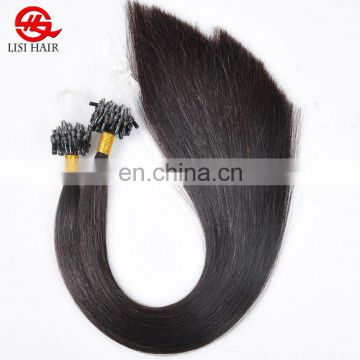 Hot Human Hair Silky Straight Wave Remy Indian Mirco Ring Loop Hair Extensions