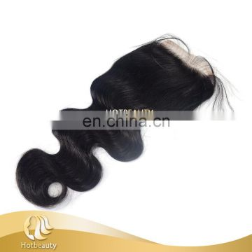 Free parting Brazilian Hair Body Wave Closure Middle Part Free Part Natural Black