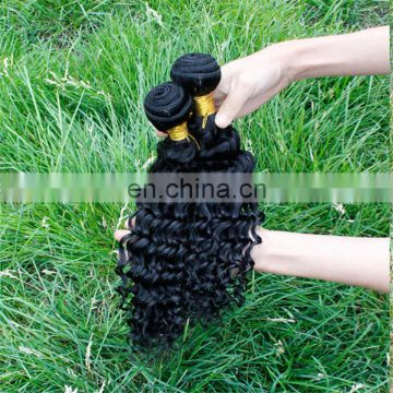 Alibaba hot sale top quality black color human hair extensions thick end deep wave indian hair weaves