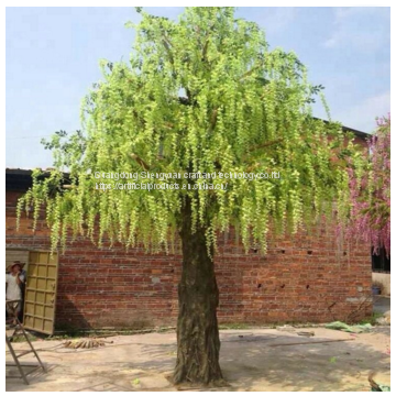 high simulation plastic artificial wisteria flower tree for decoration