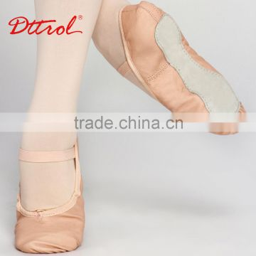 D005002 Dttrol Ballet Slippers Wholesale Ballet Girls Suede Sole Leather Ballet Dance Shoe