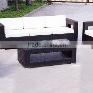 2015 Modern Rattan Outdoor Furniture - Rattan Sofa Set= 2 single seat + 1 loveseat + 1 coffee table
