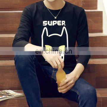Peijiaxin Cool Casual Printed Cotton O-neck Long Sleeve Mens T Shirts