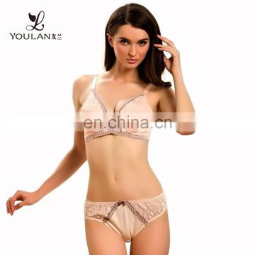 HOT Sale Sexy Pink Lace Ladies Lingerie Set