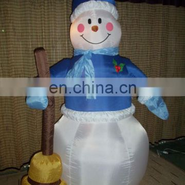 OXford cloth material inflatable christmas snowman