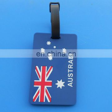 Australian national flag travel holiday luggage tag with blank plastic strap
