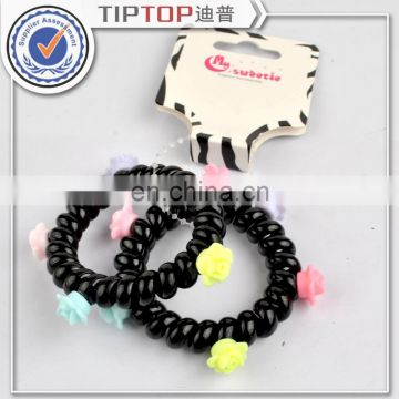 Hot sale black hair rope, PLUS black telephone line hair ring, rubber band hair jewelry