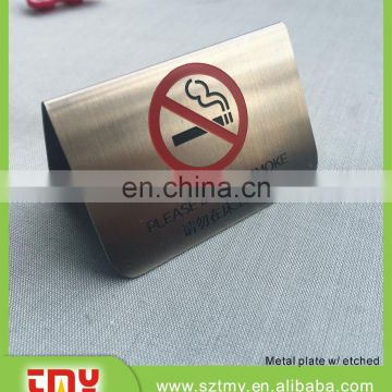 No smoking metal display stand for hotel