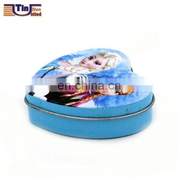 Small frozen design heart shape candy tins
