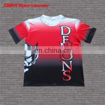 Gym fitness with pattern oem t-shirt
