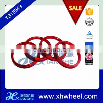 57.1 66.6 72.6 Red Aluminium Colorful Hub Centric Rings for Wheel rim