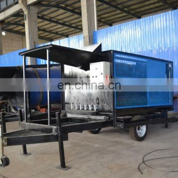 High quality mobile gold & diamond washing machine used for alluvial gold and diamond mining