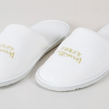 Hotel Supplies Open toe Terry Towel Static Free Hotel Slippers