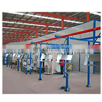 Automatic powder coating booth for aluminium profiles 70