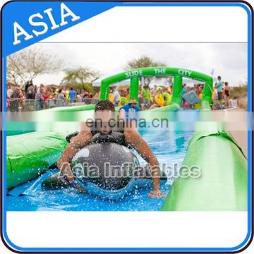 Custom slip n slide inflatable slide the city