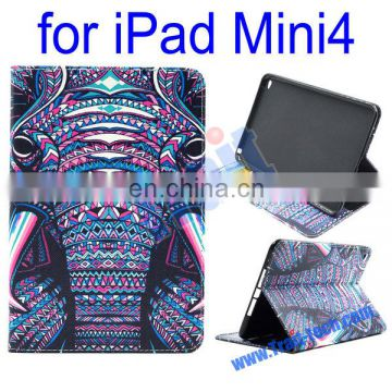 Cheap leather case/ Wallet style leather case for iPad Mini4/ Fashion leather case supplier & exporter