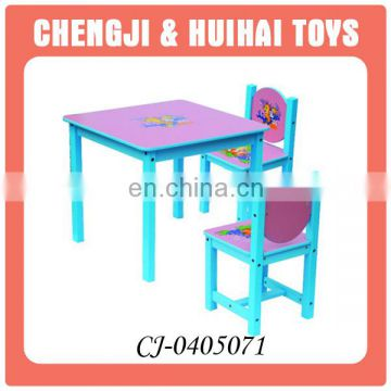 High quality wooden study desk kids table and chair set