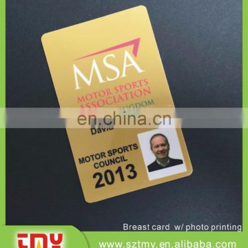 printing plastic Employee access control ID card with photo
