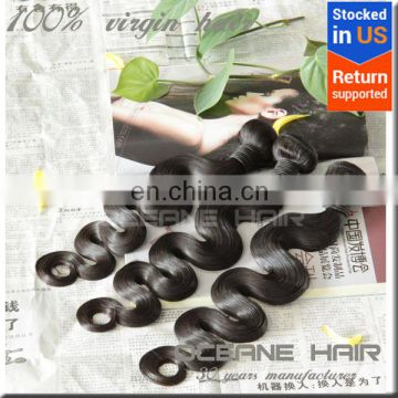 wholesale 6A+double drawn Indian human virgin Remy hair weave body weave