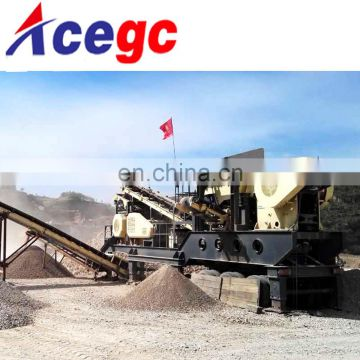 Crusher station with good performance in crushing,classifying,screening for construction material gravel,sand