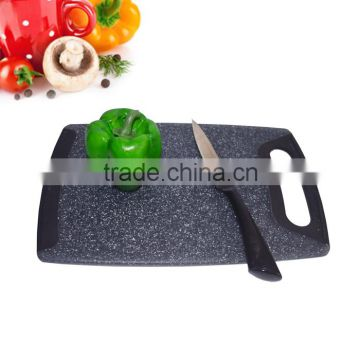Marble Color Food Grade Plastic Cutting Board Antibacterial PP Chopping Block With Anti-Slip TPR Edge Kitchen Assessaries