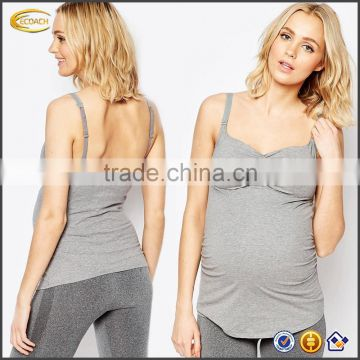 b0bc232a8b39a Ecoach New Arrival Pregnant Women Summer Maternity Nursing Tank Top  Wholesale Custom Adjustable Straps Breastfeeding Camisole of Maternity Wear  from China ...