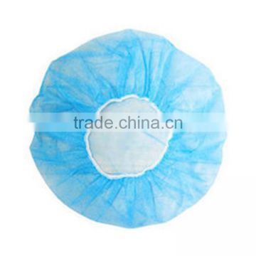 Plastic food industrial pp fabric clip cap/hair net pp10g disposable nonwoven surgical bouffant cap products