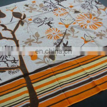 Azo Free & Reach Compliant 100% Cotton Woven Printed Pareos for Beach & Newspaper or Magazine Promotion