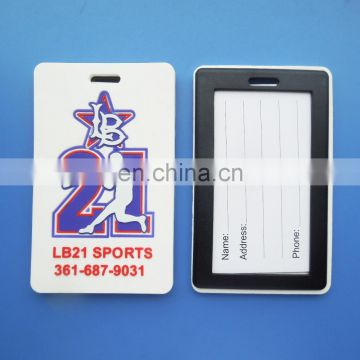 High quality number 21 baseball design soft pvc luggage tags