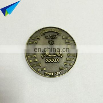 Custom metal single custom coins with coin making box packing