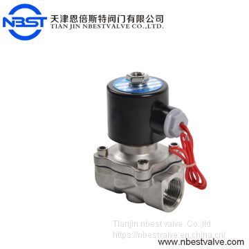 CE approved solar water sanitary 2w250-25 SS304 solenoid valve for water