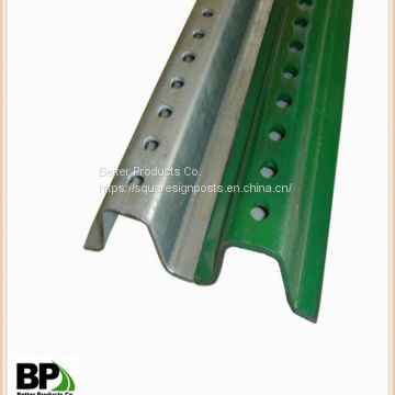 Galvanized Metal U Guide with Holes