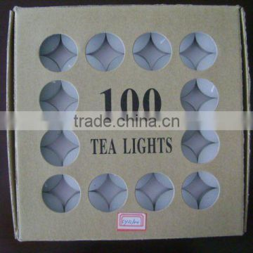 Wholesale white praying votive palm wax tealight candle